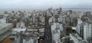 Vista de Montevidéo do terraço da Intendência de Montevidéo