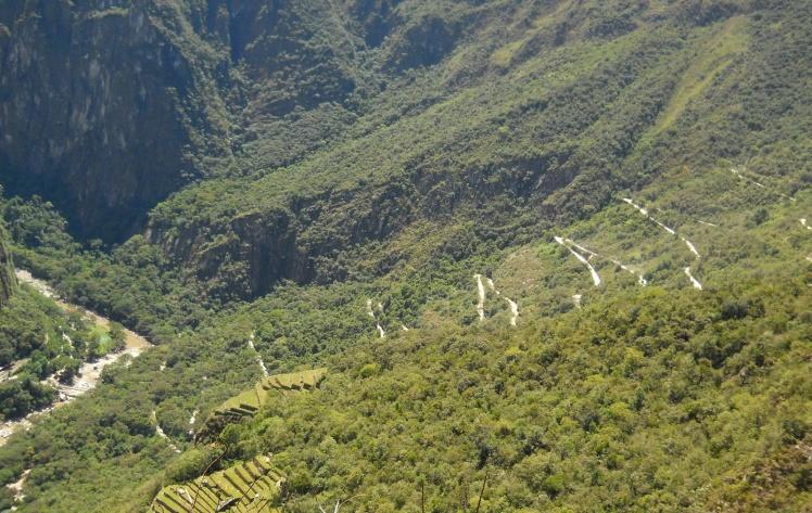 Estradinha para subida dos bus até Machu Picchu