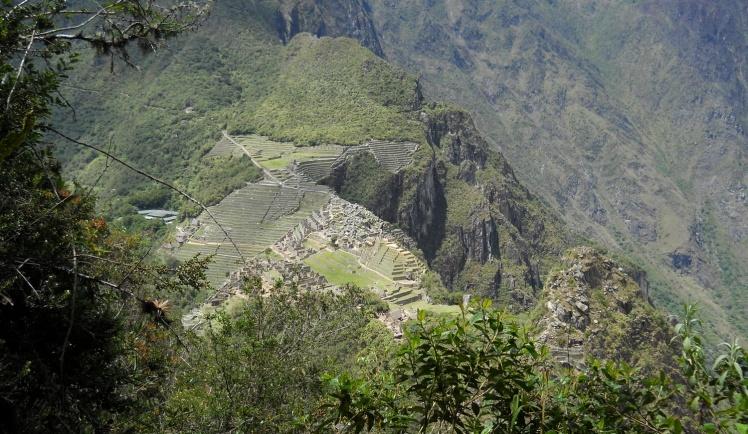 Visual de Machu Picchu desde a trilha para Waynapicchu