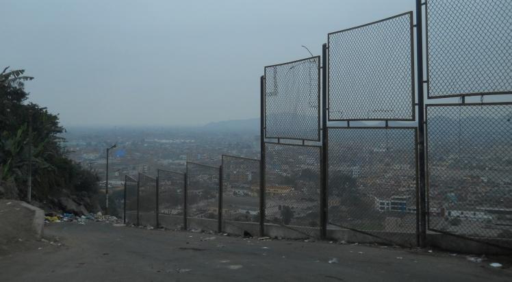 Subida trash no Cerro San Cristobal