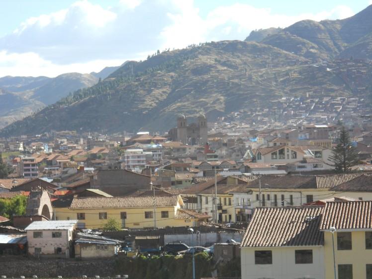 Vista de Cuzco desde Qorikancha