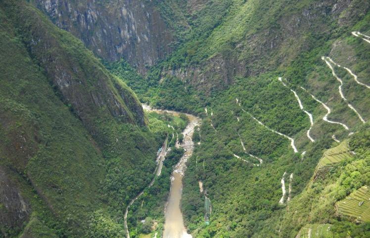 Rio Urubamba visto desde Waynapicchu