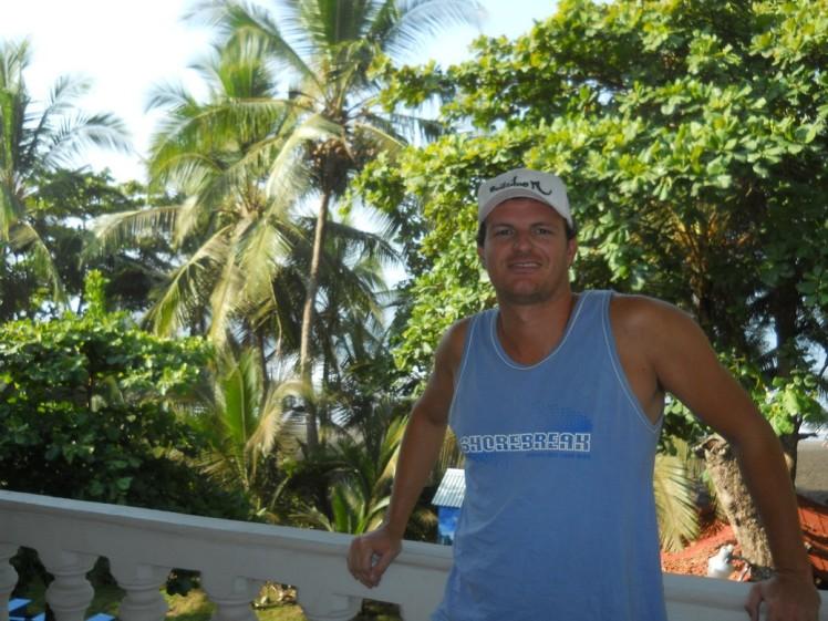 Sacada do hotel em Playa Hermosa