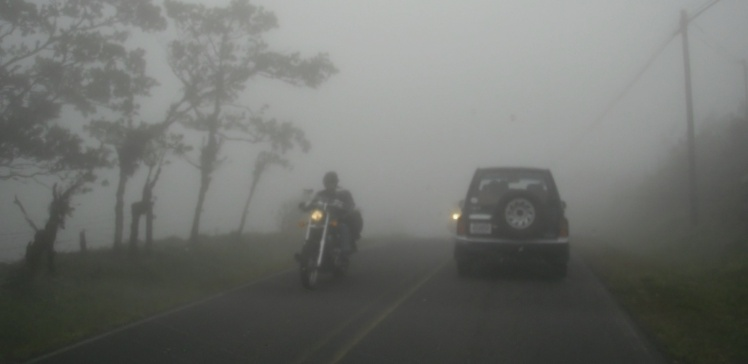 Nevoeiro voltando do Arenal