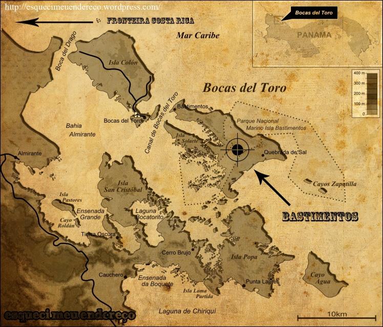 Mapa de Bocas Del Toro