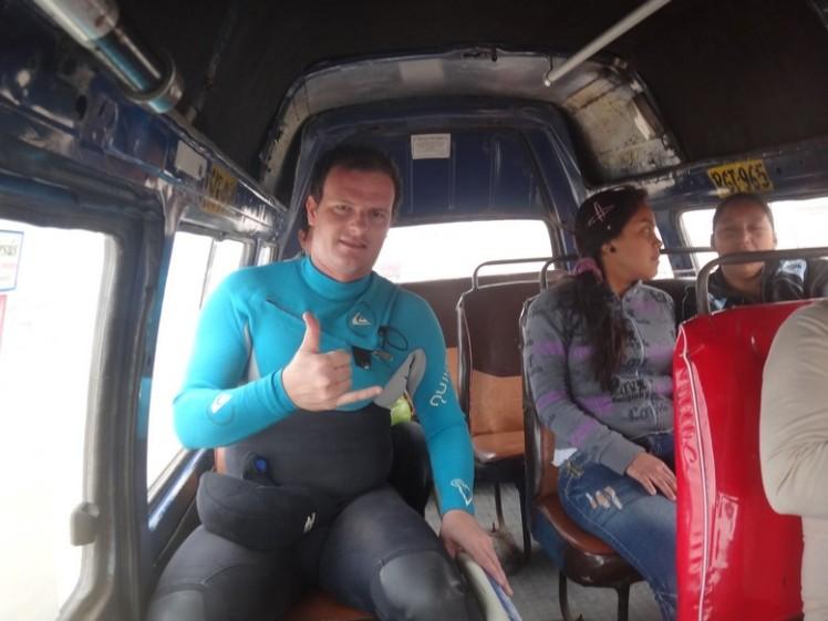 No micro bus para Punta Rocas ...