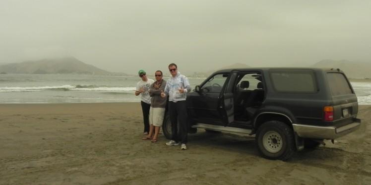 Para chegar na beira da praia em Puerto Viejo, só de 4x4 ..