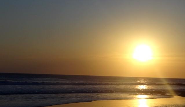 Por do sol em Popoyo