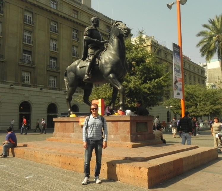 Plaza de Armas - eu e o Pedrão