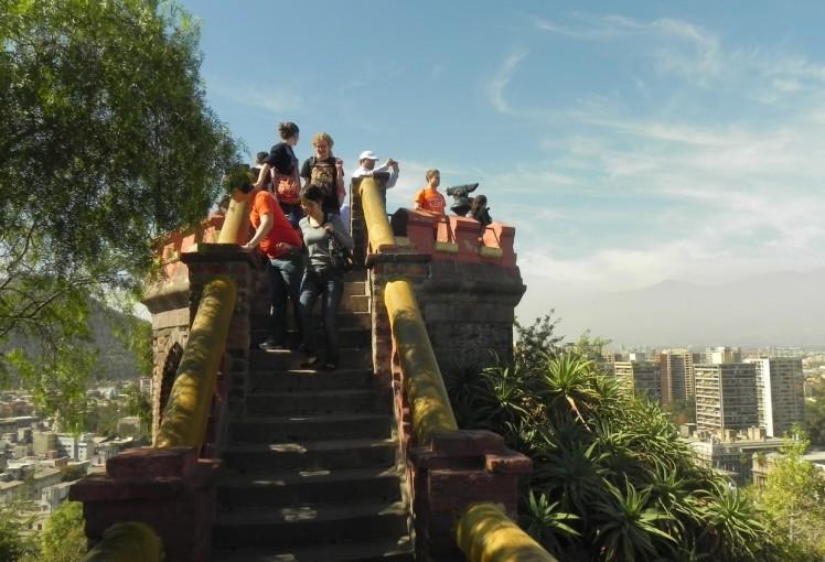 Cerro Santa Lucia - Topo do Castelo