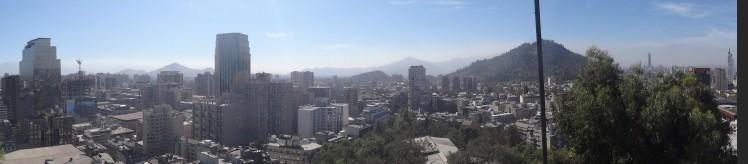 Panoramico do Cerro Santa Lucia