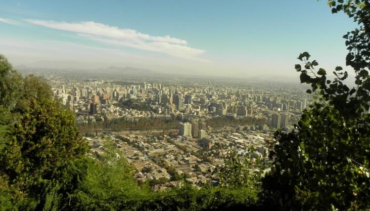 Vista de Santiago do Cerro San Cristóbal
