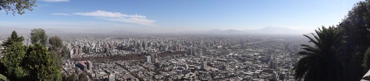 Panoramico do Cerro San Cristóbal