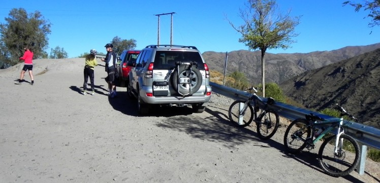 Bikers na cordilheira