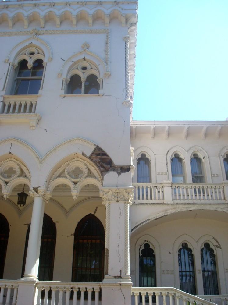 Palácio Vergara. Efeitos do terremoto de 2010.