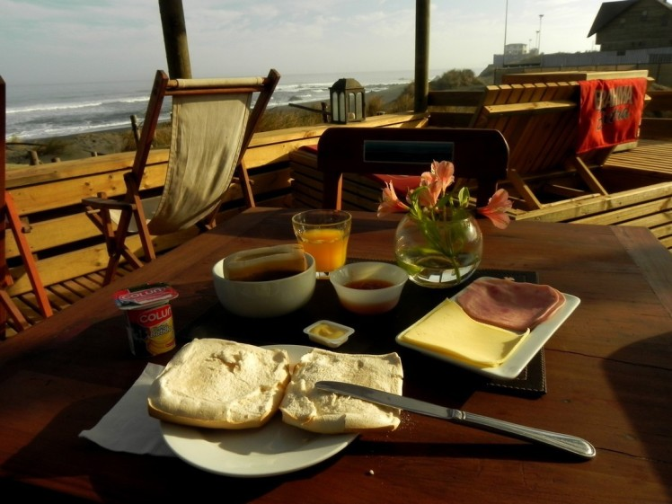 Desayuno de frente para o gol
