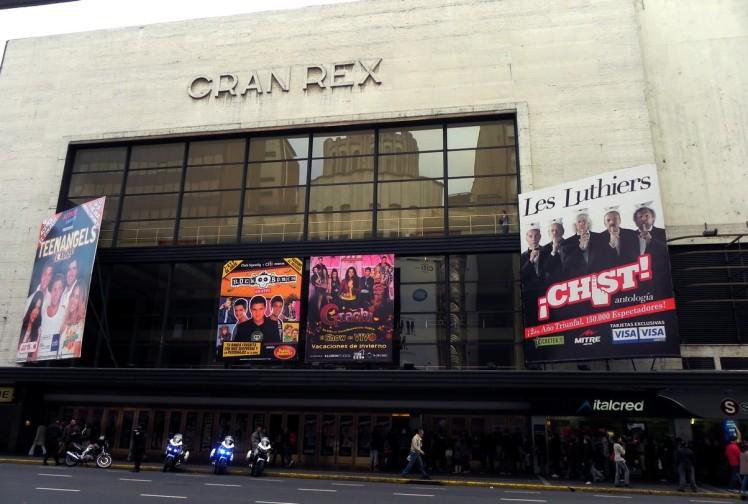 Teatro Gran Rex na Av. Corrientes