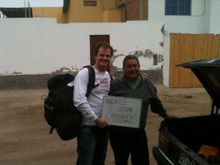Tiburón e Eduardo, o home dos transfers em Punta Hermosa
