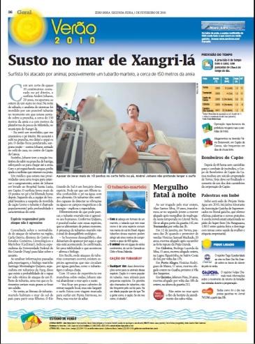 Matéria da Zero Hora de 01/02/2010