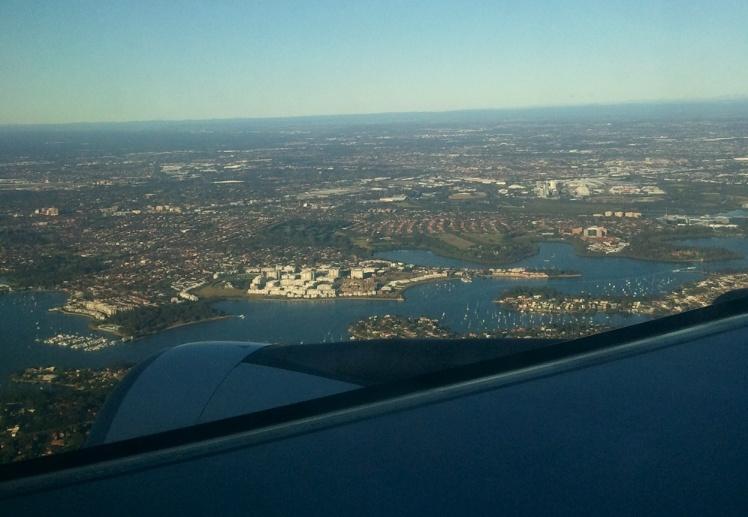 Chegando em Sydney