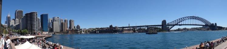 Panoramica do Circular Quay e Harbour Bridge