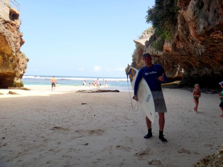Prestes a realizar um sonho: surfar Uluwatu