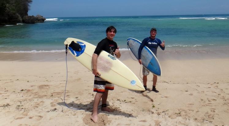 Eric e Tiburón em Paddang-Paddang