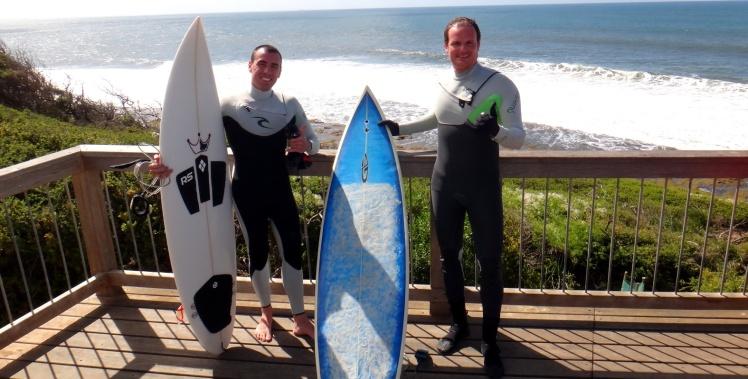 Tiburón e Luis Claudio em Bells Beach