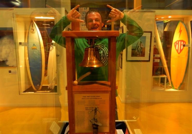 Troféu da etapa de Bells do WCT. Um dos mais cobiçados pelos surfistas de todo o mundo