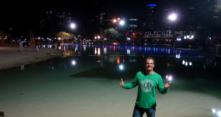 Southbank - Praia artificial em Brisbane