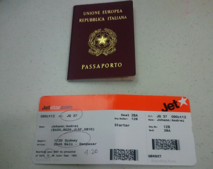 Embarque para Bali - Passaporte Italiano salvador !