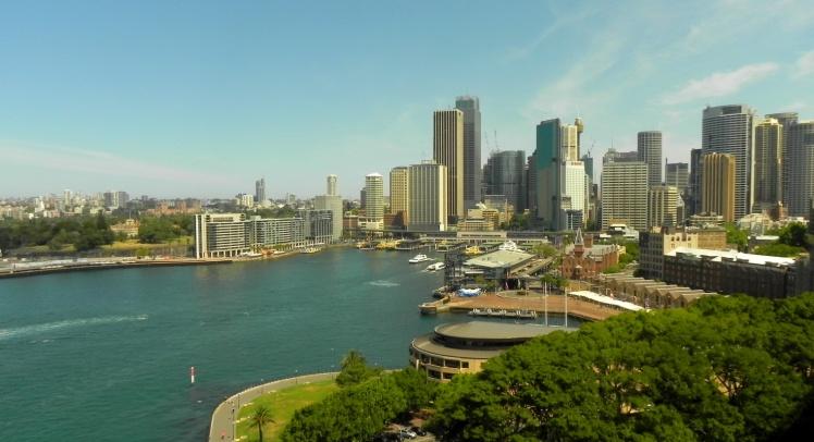 Vista do Circular Quay desde a Harbour Bridge