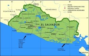 Regiões de surfe em El Salvador