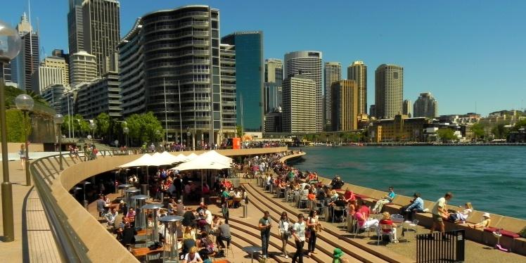 Cafés e Bares entre o Opera House e o Circular Quay