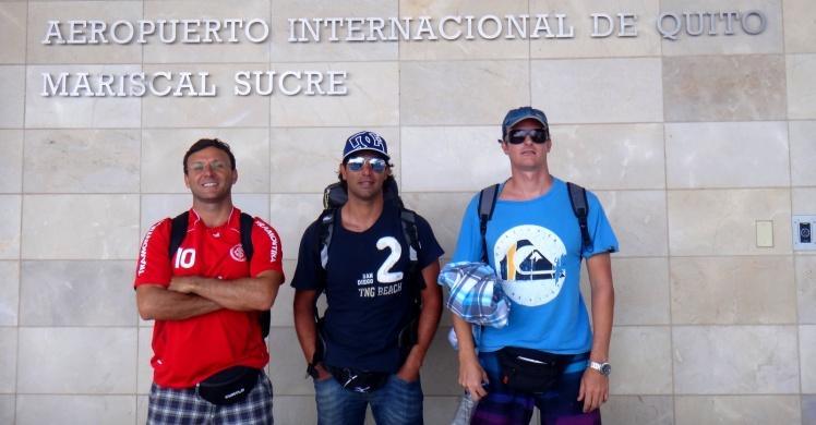 Chegada ao Aeroporto de Quito