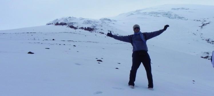 Nas geleiras do Cotopaxi
