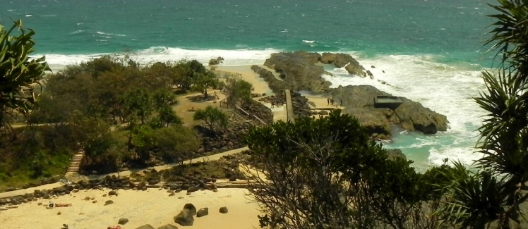 Vista de Snapper Rocks desde Point Danger