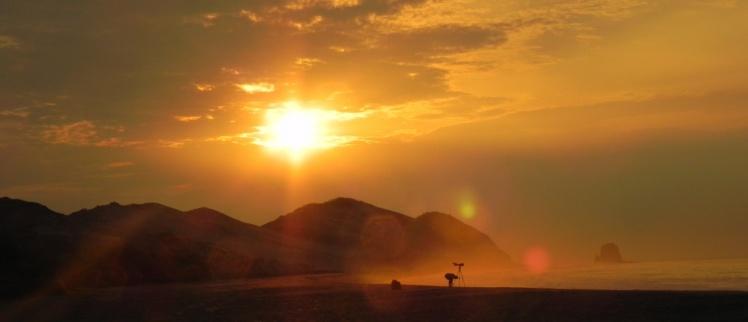 Nascer do sol em Punta Escondida