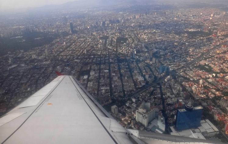 Sobrevoando a Cidade do México