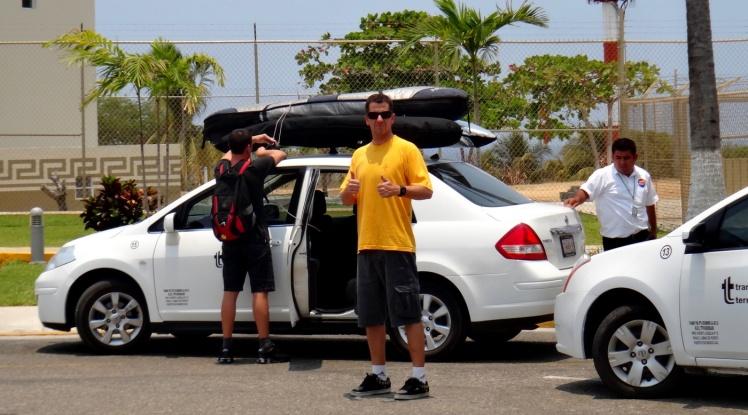 Puerto Escondido - transfer para o hotel