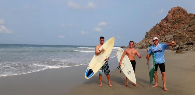 João, Luis e Andrei em Punta Conejo