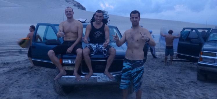 Andrei, Luis e João em Punta Conejo