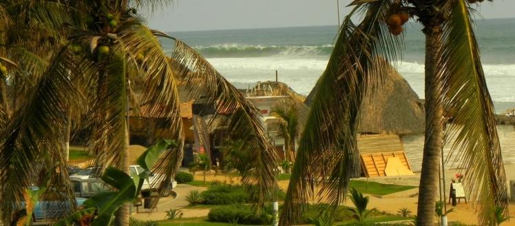 Zicatela vista do Restaurante de nosso hotel