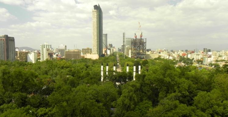 Visual do Parque Chapultepec desde o castelo