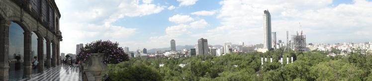 Panorâmica do do Parque Chapultepec desde o castelo