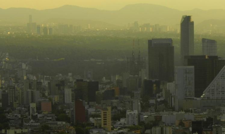 Bosques de Chapultepec visto do Mirador Torre Latinoamericana