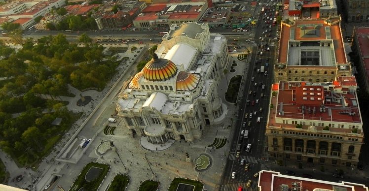 Palácio Belas Artes visto do Mirador Torre Latinoamericana