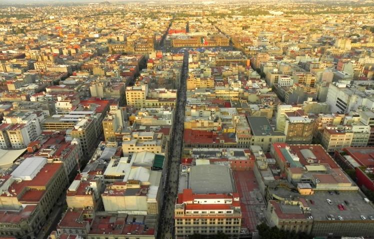 Calle Madero vista do Mirador Torre Latinoamericana