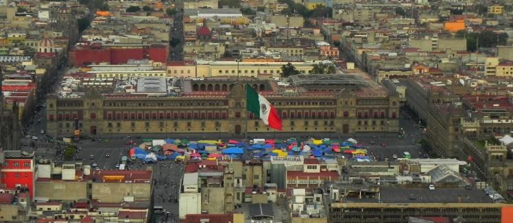 Palácio Nacional visto do Mirador Torre Latinoamericana