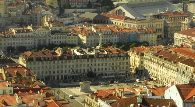Praça da Figueira e Praça do Rossio vistos desde o Castelo de São Jorge